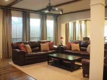 Amazing living room paint ideas by brown furniture 02