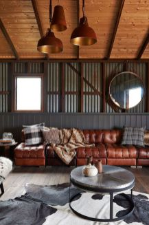 Amazing living room paint ideas by brown furniture 14