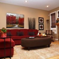 Amazing living room paint ideas by brown furniture 20