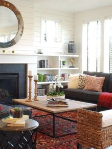 Amazing living room paint ideas by brown furniture 34