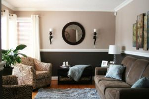 Amazing living room paint ideas by brown furniture 38