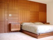Awesome wooden panel walls bedroom ideas 12
