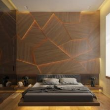 Awesome wooden panel walls bedroom ideas 22
