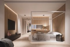 Awesome wooden panel walls bedroom ideas 28