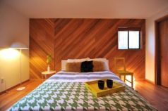 Awesome wooden panel walls bedroom ideas 35