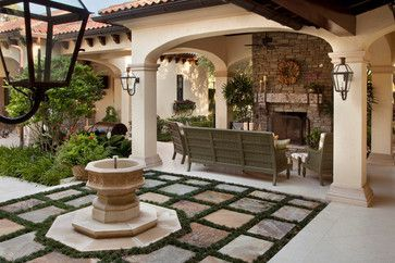 Beautiful mediterranean patio designs ideas 34