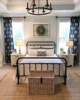 Casual vintage farmhouse bedroom ideas 15