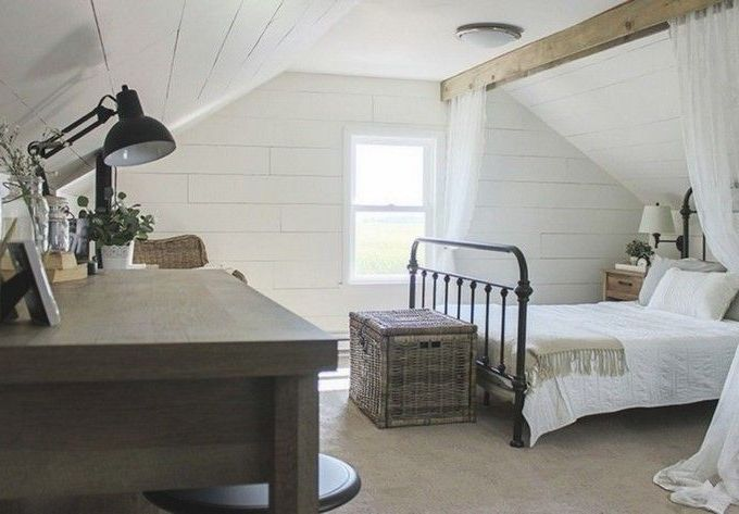 Casual vintage farmhouse bedroom ideas 32