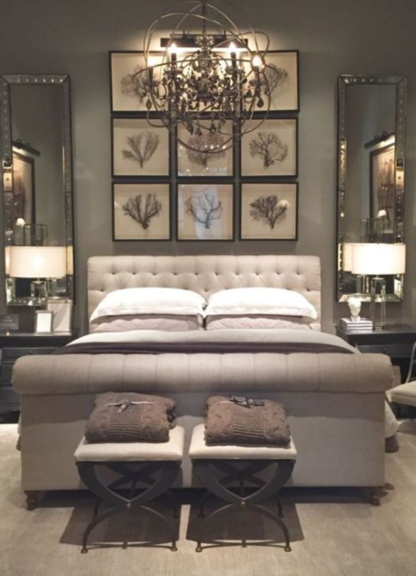 Cozy farmhouse master bedroom decoration ideas 01