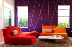 Fascinating striped walls living room designs ideas 11