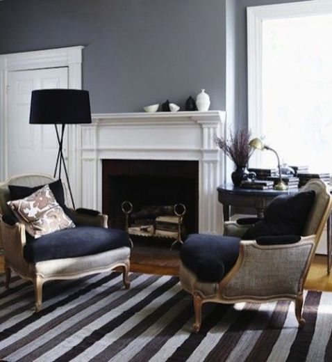 Fascinating striped walls living room designs ideas 15