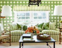 Fascinating striped walls living room designs ideas 17