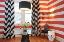 Fascinating striped walls living room designs ideas 35