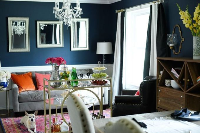 Fascinating striped walls living room designs ideas 38