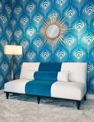 Fascinating striped walls living room designs ideas 40