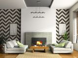 Fascinating striped walls living room designs ideas 41