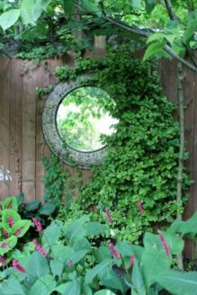 Inspiring outdoor garden wall mirrors ideas 02