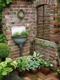 Inspiring outdoor garden wall mirrors ideas 10
