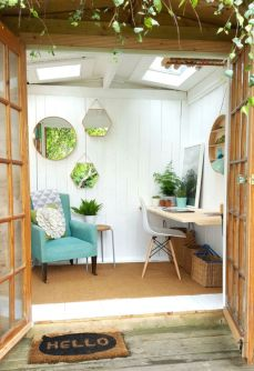 Inspiring outdoor garden wall mirrors ideas 19