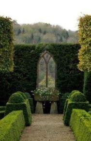 Inspiring outdoor garden wall mirrors ideas 20