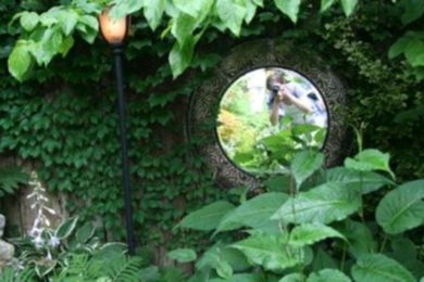 Inspiring outdoor garden wall mirrors ideas 23