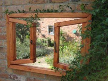 Inspiring outdoor garden wall mirrors ideas 26