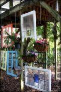 Inspiring outdoor garden wall mirrors ideas 30