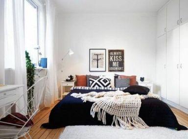 Lovely white bedroom decorating ideas for winter 18