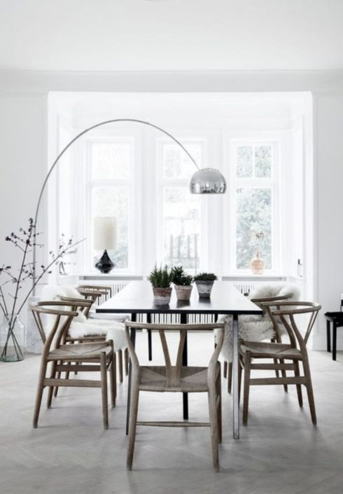 Modern scandinavian dining room chairs design ideas 31