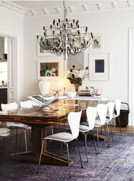 Modern scandinavian dining room chairs design ideas 40