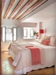 Pretty bedroom designs ideas with exposed wooden beams 11