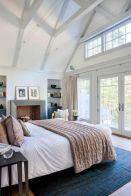 Pretty bedroom designs ideas with exposed wooden beams 40