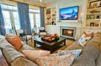 Stylish coastal living room decoration ideas 04