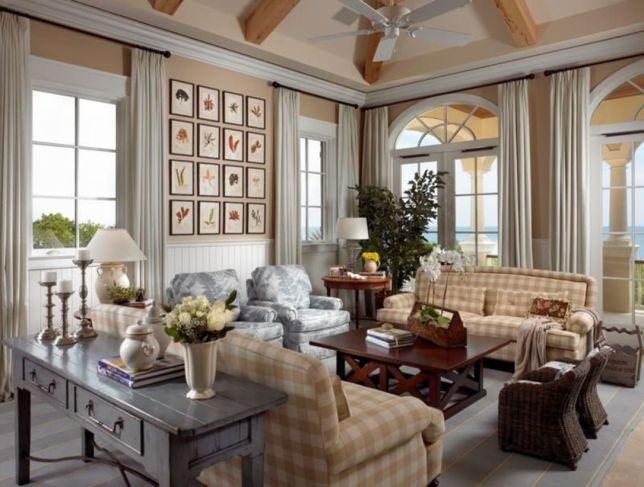 Stylish coastal living room decoration ideas 34