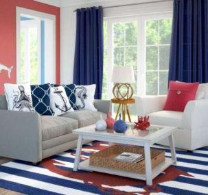 Stylish coastal living room decoration ideas 38