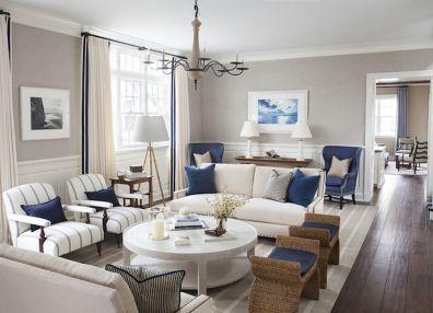 Stylish coastal living room decoration ideas 39