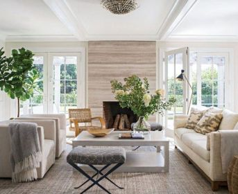 Stylish coastal living room decoration ideas 42