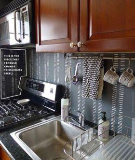 Unique practical chalkboard decor ideas for your kitchen 02