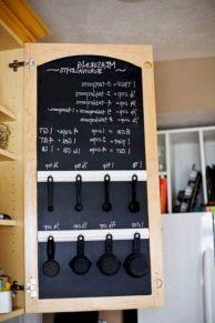 Unique practical chalkboard decor ideas for your kitchen 04