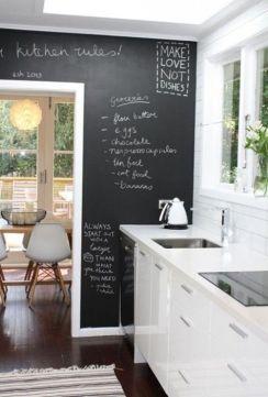 Unique practical chalkboard decor ideas for your kitchen 26