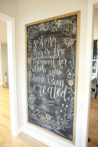 Unique practical chalkboard decor ideas for your kitchen 36