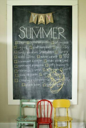 Unique practical chalkboard decor ideas for your kitchen 43