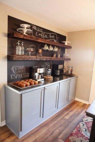 Unique practical chalkboard decor ideas for your kitchen 44