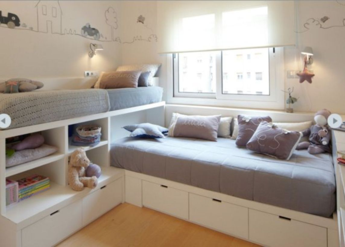 Unordinary space saving design ideas for small kids rooms 27