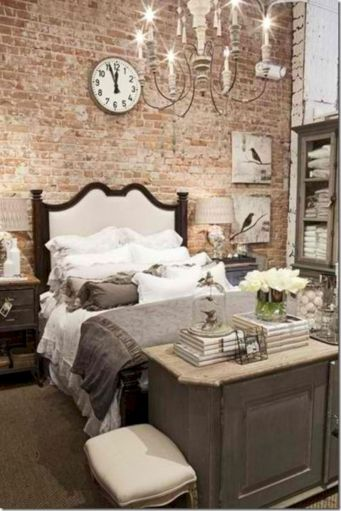 Modern faux brick wall art design decorating ideas for your bedroom 03