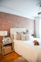 Modern faux brick wall art design decorating ideas for your bedroom 05