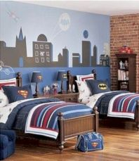 Modern faux brick wall art design decorating ideas for your bedroom 21