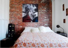Modern faux brick wall art design decorating ideas for your bedroom 28