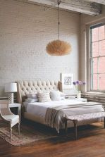 Modern faux brick wall art design decorating ideas for your bedroom 33