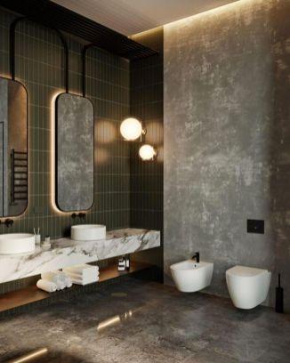 Affordable bathroom design ideas for apartment 35